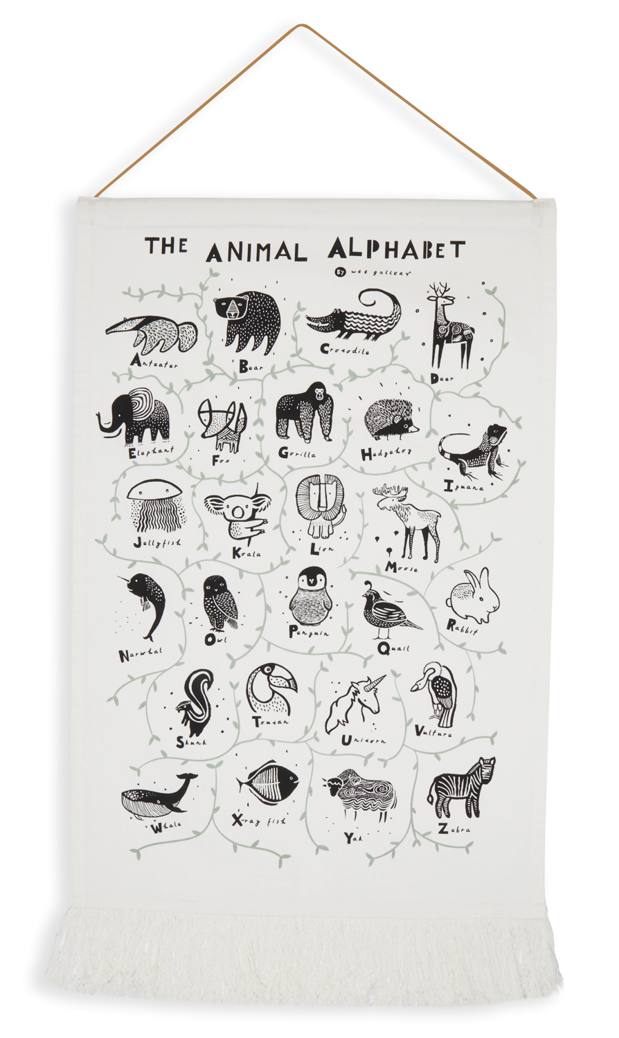 Wee Gallery Animal Alphabet Wall Hanging copy